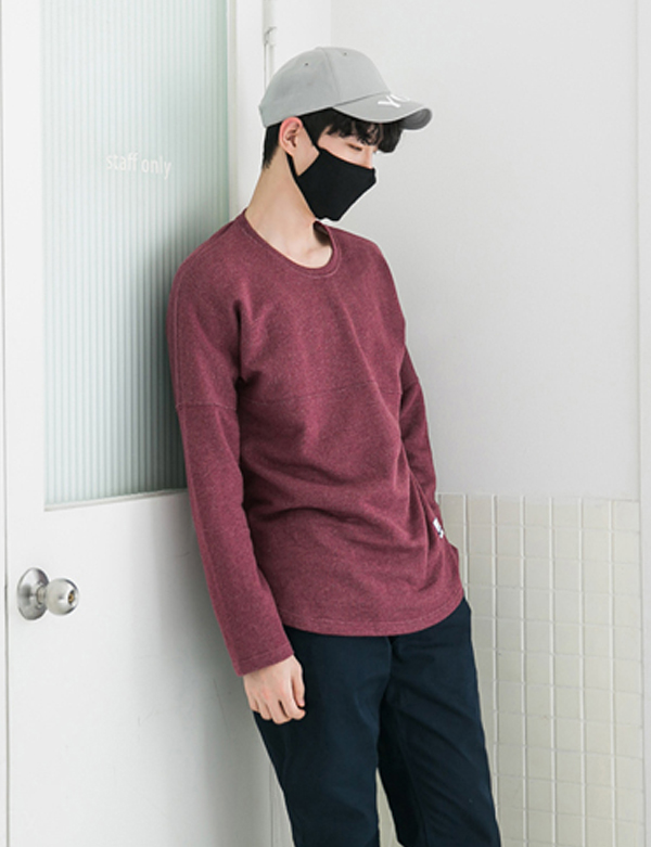 LONG SLEEVE RAGLAN T-SHIRTS_WINE