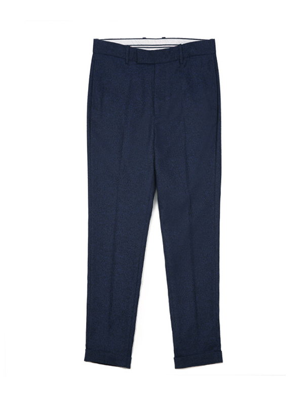 TURN UP WIDE SLACKS_DARK NAVY