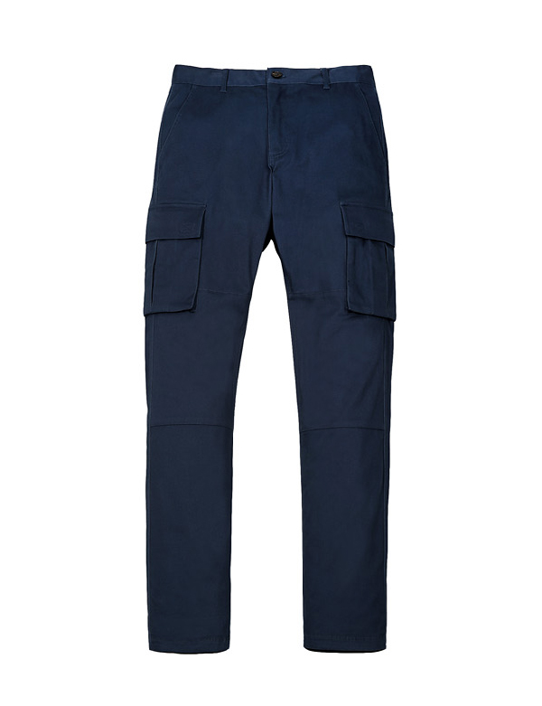 COTTON CARGO PANTS_BLUE