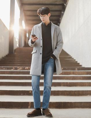 데이바이데이 코트+베이직 루즈핏 트임니트[CX2224]