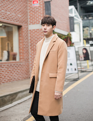 [BT1210]Personal Three Button Single Coat( 5 color M~3XL 사이즈 )[BEIGE]