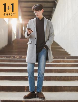 [CX2224]취향저격 1+1아이템ver. 데이바이데이 코트+베이직 루즈핏 트임니트★300개 한정수량★