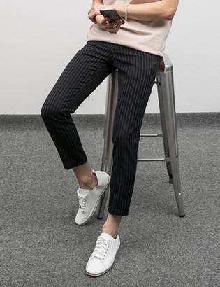 [BJ0736]Semi stripe Slacks( 3 color S/M/L size )